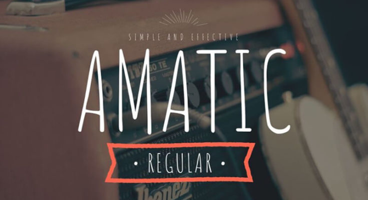 Amatic Font Family Free Download