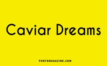Caviar Dreams Font Family Free Download