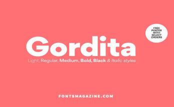 Gordita Font Family Free Download