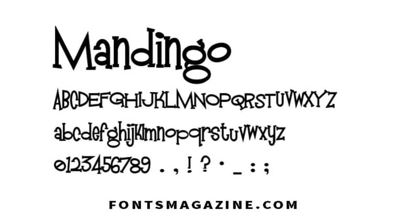 Mandingo Font Family Free Download