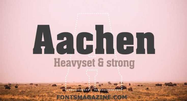 Aachen Font Family Free Download