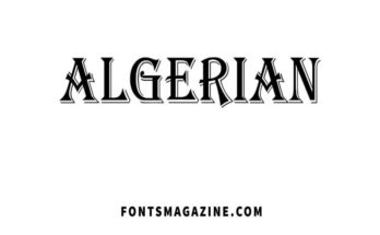 Algerian Font Family Free Download