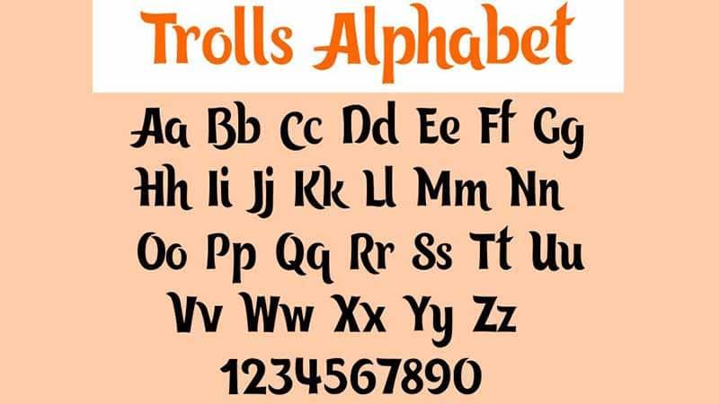 Trolls Font Family Download