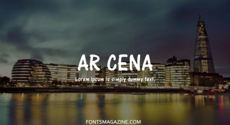 AR Cena Font Family Free Download
