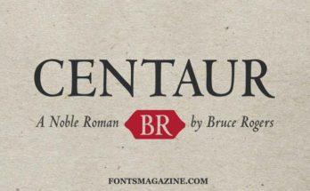 Centaur Font Family Free Download