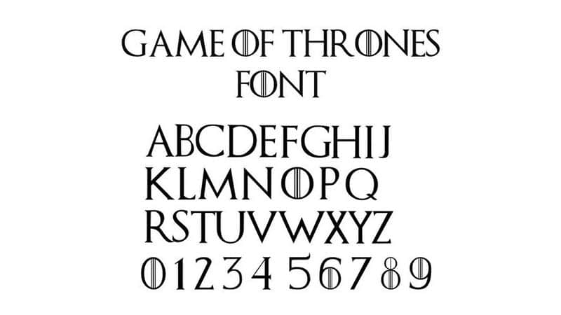 Game Of Thrones Font Download The Fonts Magazine
