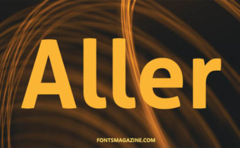 Aller Font Family Free Download