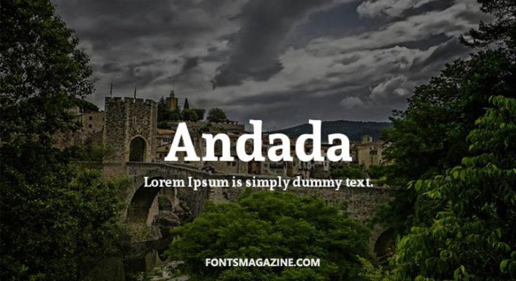 Andada Font Family Free Download