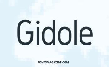 Gidole Font Family Free Download