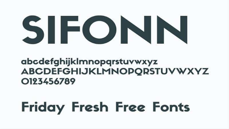 By Photo Congress || Sifonn Outline Font Dafont
