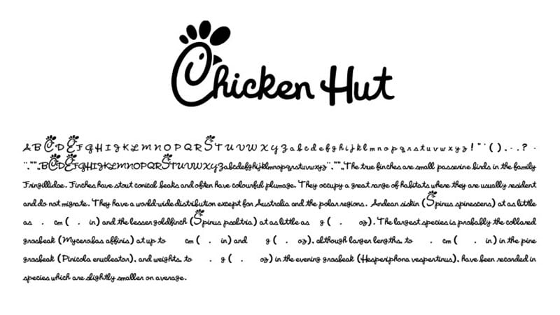 Chick Fil Font Family Download