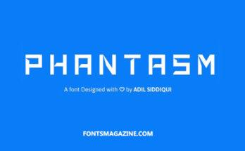 Phantasm Font Family Free Download