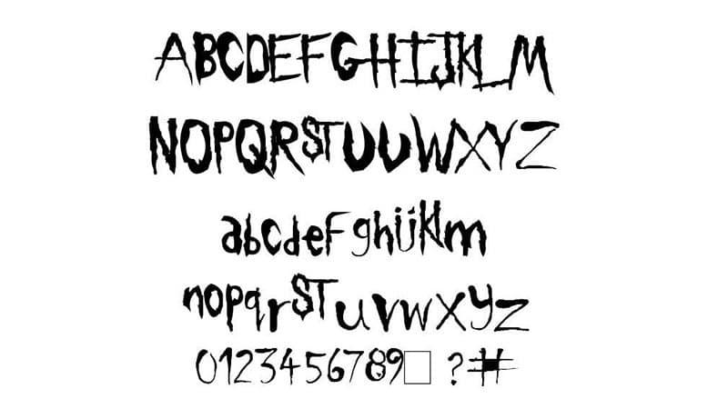 Slipknot Font Free Download