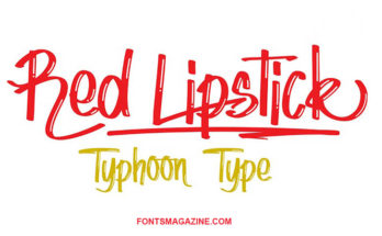 Red Lipstick Font Family Free Download