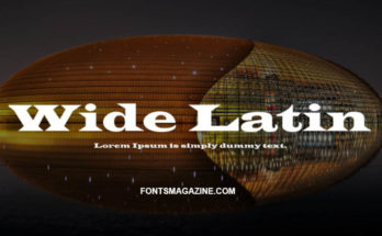 Wide Latin Font Family Free Download