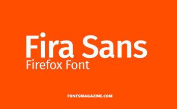 Fira Sans Font Family Free Download