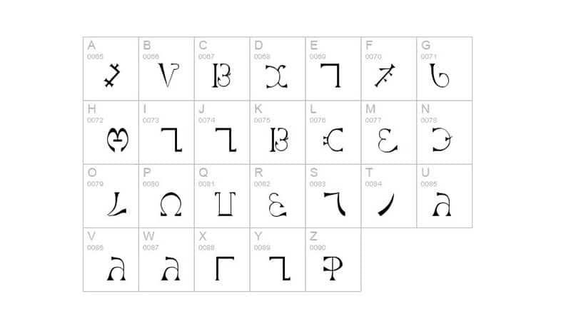 Enochian Font Free Download