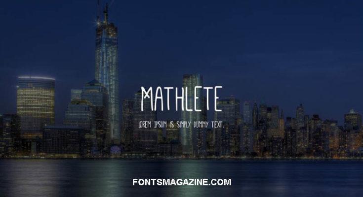 Mathlete Font Family Free Download