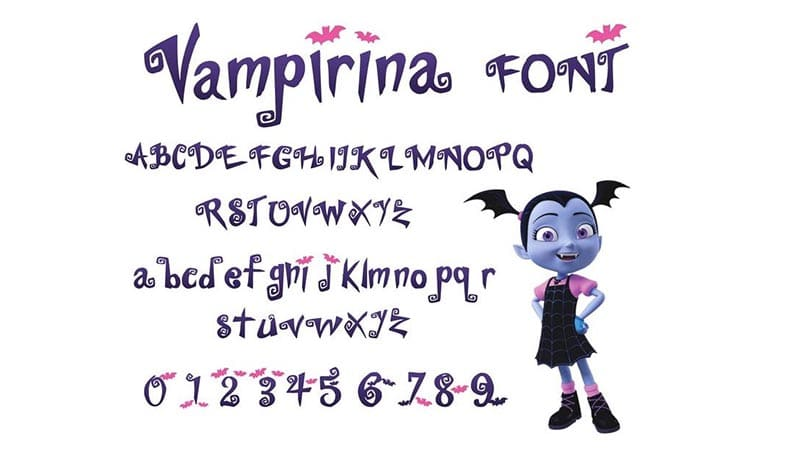Vampirina Font Family Download