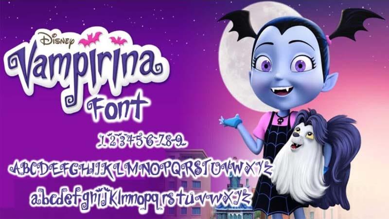 Vampirina Font Free Download
