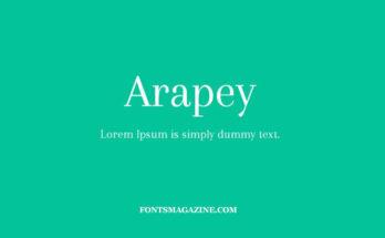 Arapey Font Family Free Download