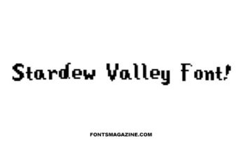 Stardew Valley Font Family Free Download