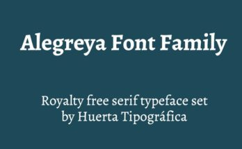 Alegreya Font Family Free Download