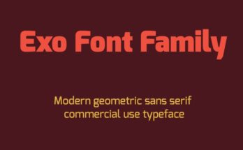 Exo Font Family Free Download