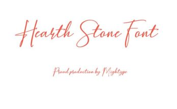 Hearth Stone Font Family Free Download