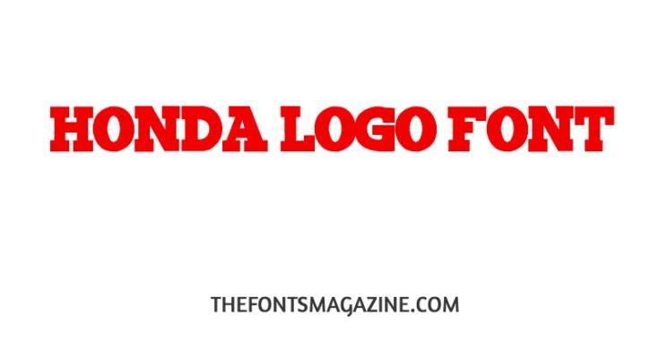 Honda Logo Font Free Download