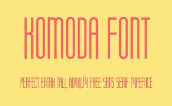 Komoda Font Family Free Download