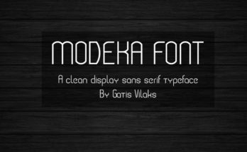 Modeka Font Family Free Download