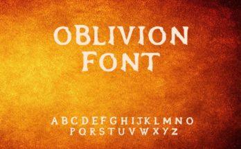 Oblivion Font Free Download