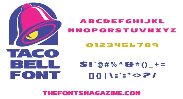 Taco Bell Font Family Free Download