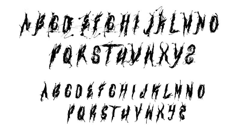 Venom Font Letters Map