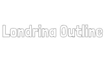 Londrina Outline Font Family Free Download