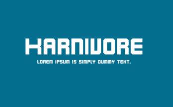 Karniuore Font Family Free Download