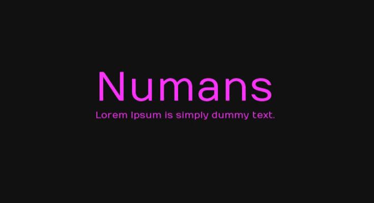 Numans Font Family Free Download