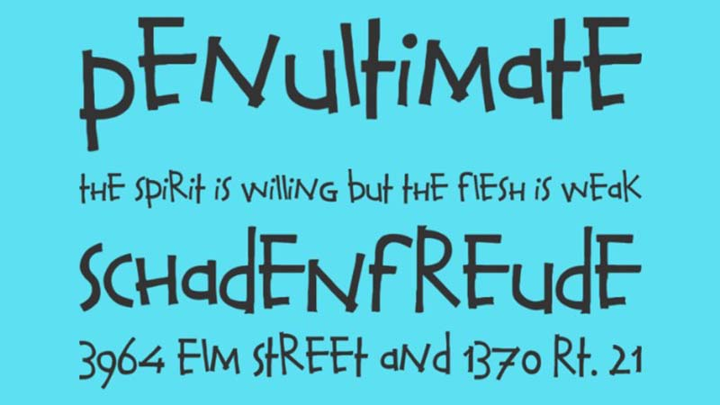 Calvin And Hobbes Font Family Download