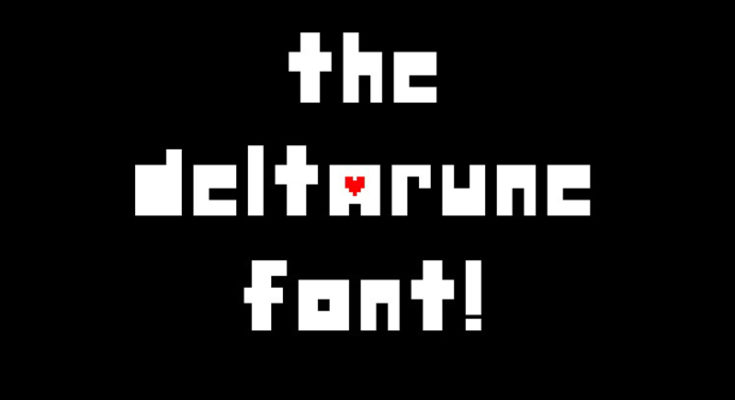 Deltarune Font Family Free Download