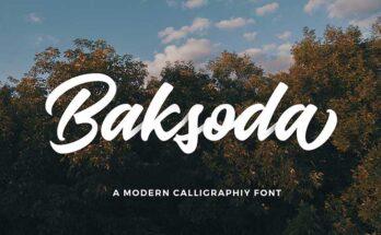 Baksoda Script Font Family Free Download