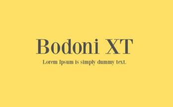 Bodoni XT Font Family Free Download