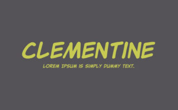 Clementine Font Family Free Download