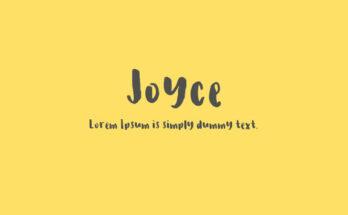 Joyce Font Family Free Download