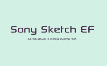 Sony Sketch EF Font Family Free Download