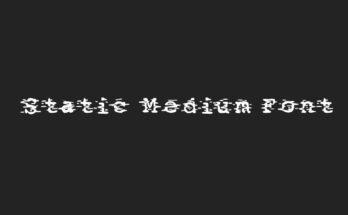 Static Medium Font Family Free Download