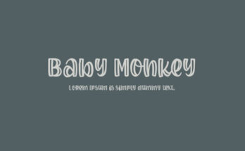 Baby Monkey Font Family Free Download