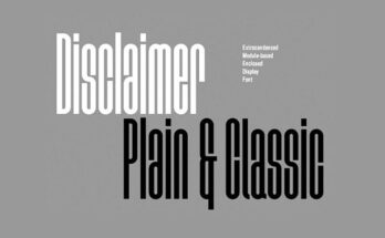 Disclaimer Font Family Free Download