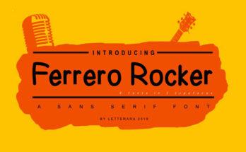 Ferrero Rocker Font Family Free Download