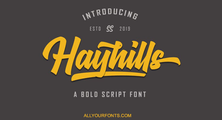 Hayhills Font Family Free Download